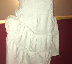 Beli suknja-haljina za plazu
