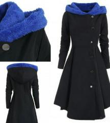Rosegal crni mantil za krupnije devojke