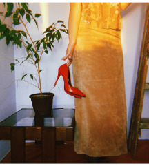 TCM kožna duga suknja