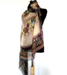 Ogromna marama (kraljevske kocije)-svila/viskoza