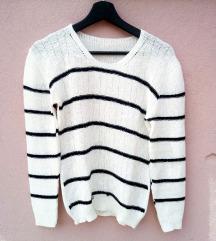 Tanji beli džemper na pruge