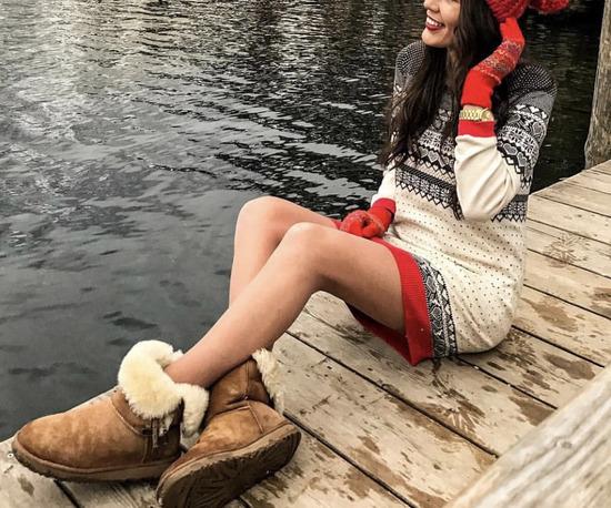 Dzemper haljina sa zimskim motivima