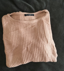 Puder roze knit dzemper