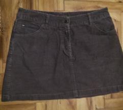 NOVO H&M somot suknja 38/M