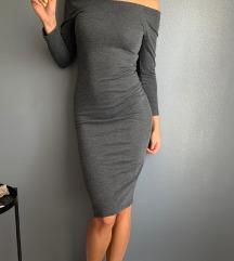 ZARA siva uska haljina