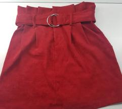 Crvena suknja SNIZENA 990