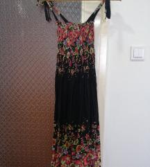 Duga crna leprsava haljinica