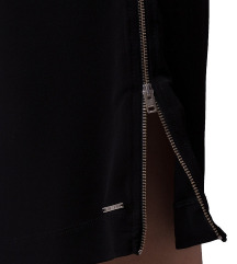 DIESEL crna haljina sa zipom sa strane
