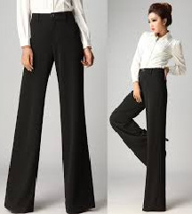 Rezz Burberry wide leg trousers(pantalone)