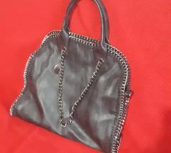 Velika crna torba sa lancima like Stella MC