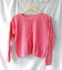 Svetlo rozi končani crop džemper - snizeno!