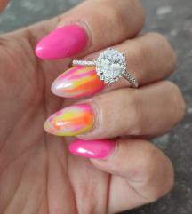 NOV srebrni prsten sa okruglim kamenom 19mm