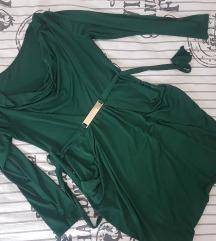Smaragdna, lagana haljinica
