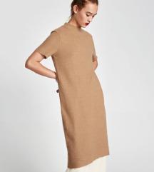 ZARA camel midi haljina