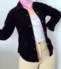 Crna somot jaknica, kosulja - RASPRODAJA