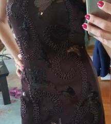 Braon sljokice - jednostavna a sexy NOVA haljina
