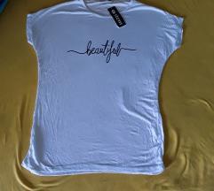 Nova Stem bela pamucna majica L-M