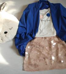 Puderroze bubbly HM suknja, vel. 36