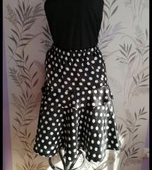 Vintage  suknja sa tufnama S/M