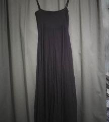 Ljubicasta lanena haljina