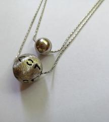 Dupla ogrlica, srebro 925