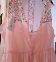 Puder roze haljina sa cipkom