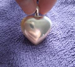 Srebrni medaljon-Srce