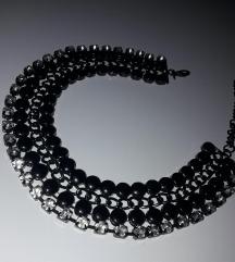 Svečana ogrlica siva (tamnosiva)