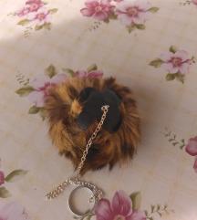privesak  ili ukras za torbu,prir. krzno,novo