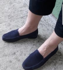 SIOUX teget kožne mokasine za uzu nogu 4 i 1/2 F