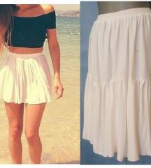bela suknja mini L-XL