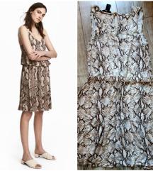 H&M haljina zmijski print