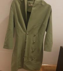Kivi zelena sako haljinica