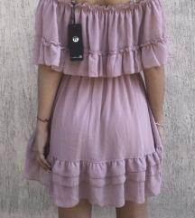 Nude pink haljina 50% snizeno