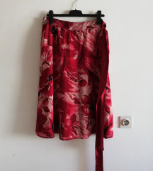 Suknja crveno bela