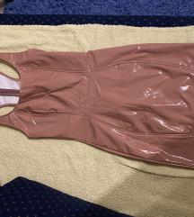 Lakovana nude haljina 1500!