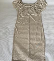 Zlatna uska haljina