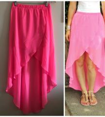 H&M asimetrična roza suknja