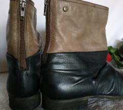 Braon crne kožne čizme gležnjsče BULLBOXER 38