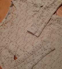 Krem cipkana bluzica M
