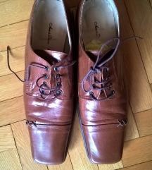 Braon kožne cipele 39 NENOŠENO