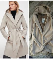 Zara kaput krem, novo sa etiketom