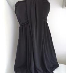 Fervente top crna haljina M