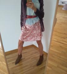 Nova roze plisana suknja