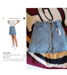 Svetla teksas suknja sa etiketom
