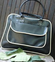 Vintage crno bela torba