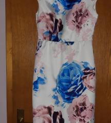Bela cvetna haljina P. S