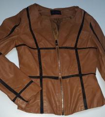 Kozna braon jaknica