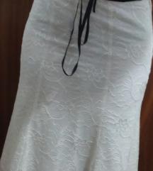 Krem suknja od cipke
