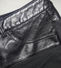 C&A crni plus size šorts sa detaljima od eko kože